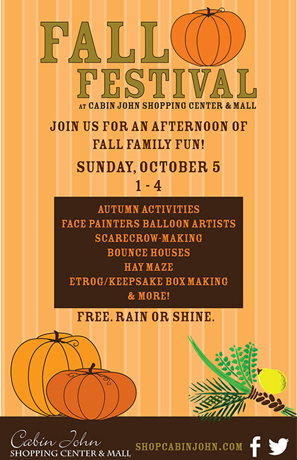 Cabin John Fall Festival Flyer 2014